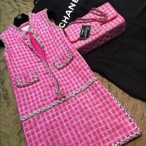 Chanel Tweed Jumbo Classic Bag